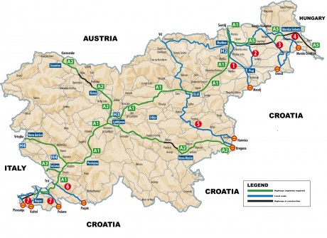 Slovenia-Highways-Map